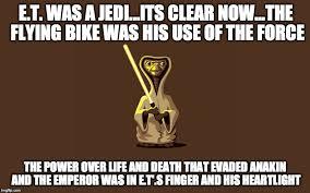 Et Is A Jedi Meme - spielberg imgflip
