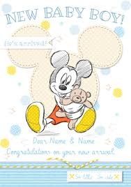 congrats on new card disney baby mickey new baby card baby boy congrats funky pigeon