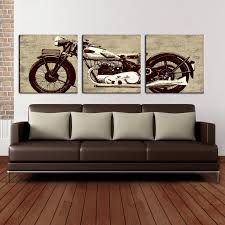 motorcycle 24 x 72 canvas art print triptych hayneedle