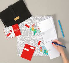 Paper Maps Pocket Map And Coloring Page Switzerland