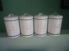 metal kitchen canisters vintage green metal kitchen canisters ebay