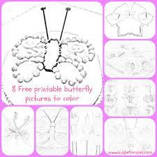 8 free printable butterfly pictures color kids kiddie foodies