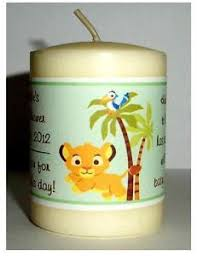 king baby shower theme 14 lion king baby simba baby shower favors votive candle labels ebay