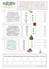 christmas riddle sheet worksheet free esl printable worksheets