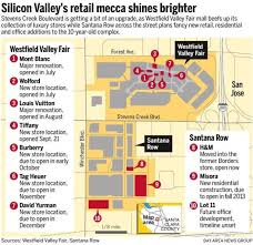 santana row and valley fair mall add sizzle to creek