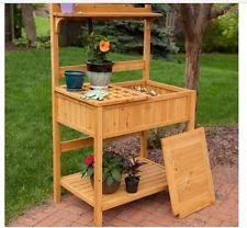 Potting Bench Kits Potting Bench Solid Wood Garden Workbench Gardening Workstation