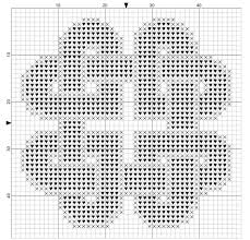 chart for knotted hearts free cross stitch pattern a small celtic