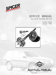 service manual axle jeep grand cherokee wj 44 gear axle