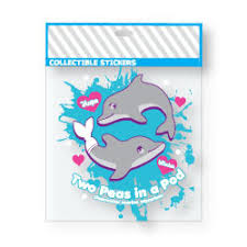 2 peas in a pod keychain two peas in a pod sticker featuring winter and the dolphin