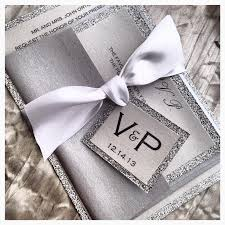 silver wedding invitations wedding invitation silver and white invitation wedding