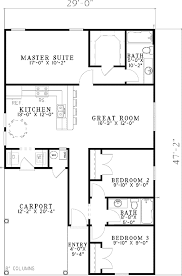starter house plans plan 59779nd carport starter home plan southern house and
