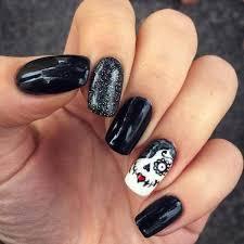 Nail Art Design Black Best 10 Sugar Skull Nails Ideas On Pinterest Skull Nail Designs