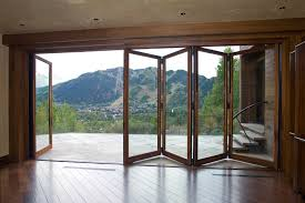 Interior Bifold Doors With Glass Inserts Decor Clear Glass Bifold Doors For Awesome Patio Door Design