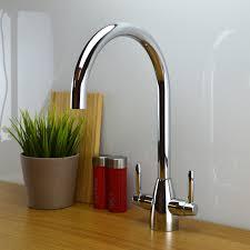 contemporary designer kitchen sink mixer tap monobloc brass torino