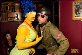 Marge Halloween Costume Colton Haynes Channels Marge Simpson Freixenet Halloween Party