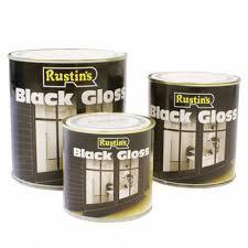 Black Exterior Gloss Paint - rustins black paint dexters decorative supplies