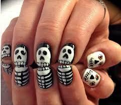 nails halloween skeleton manicure pedicure hair makeup i like