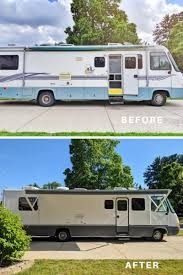 what type of paint to use on rv cabinets how to paint the exterior of a cing trailer or rv