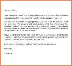 4 retiring letter of resignation resignition letter