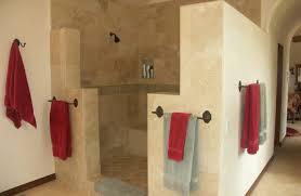 doorless shower design bathroom mediterranean with open solid