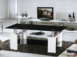 High Coffee Tables Metro White High Gloss Coffee Table Black Glass Top Homegenies