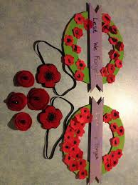anzac day craft felt poppy headbands felt poppy badges and