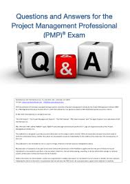 project management study manual pmp exam q and a