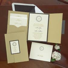 pocket wedding invitations folio pocket wedding invitations