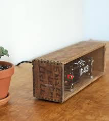 vintage cheese box flip clock home decor u0026 lighting boxtclox