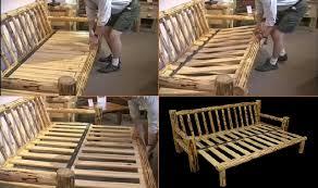 furniture log sofa futon log furniture pinterest logs log