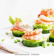 canape mousse canape cucumber avocado mousse salmon shrimp stock photo 572935309