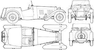 sports car drawing hrg car blueprints die autozeichnungen les plans d