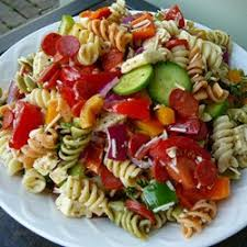 cold pasta salad dressing this colorful pasta salad is packed with vegetables pepperoni and