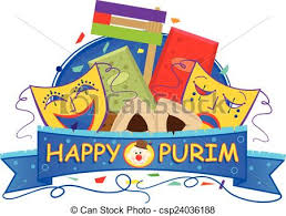purim picture mask purim banner happy purim banner with purim masks vector