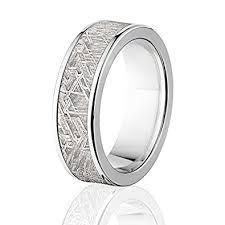 meteorite wedding band meteorite ring w strengthened titanium satisfaction guarantee