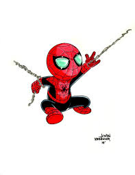 spiderman clipart chibi pencil and in color spiderman clipart chibi