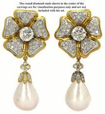 earring jackets dangle 45 earring jackets pearl white gold earring jackets pearl