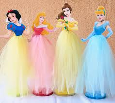 Centerpieces For Birthday by Princess Cinderella Belle Snow White Sleeping Beauty Tutu Wood