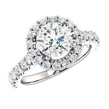 engagement ring deals 2 06 carat tw halo engagement ring 18k white gold 1 25