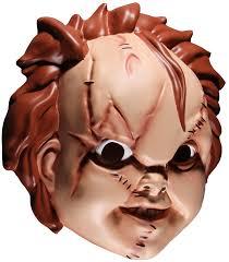 chucky mask child s play chucky plastic mask mezco chucky