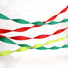 streamers paper set of three christmas paper streamers by blossom