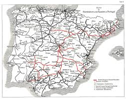 Map Of Spain And France by History Of Rail Transport In Spain Wikipedia