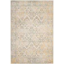 Gray And Yellow Rugs 7 X 9 Distressed Area Rugs Rugs The Home Depot