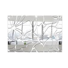 honana acrylic mirrored diy decorative wall stickers 3d mural honana acrylic mirrored diy decorative wall stickers 3d mural bathroom mirror sticker decoration