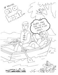swimming safety coloring pages