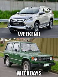 Meme Mobil - weekend weekdays jpg