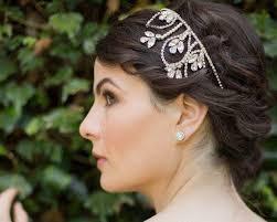 wedding headband wedding headband with swarovski crystals and pearls posy jules