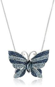 butterfly pendant necklace silver images Sterling silver blue mix butterfly with swarovski jpg