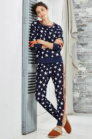 buy navy white fleece print pyjamas from next mexico