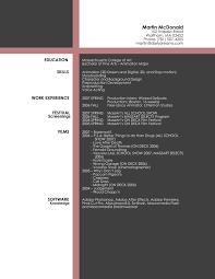 Art Director Resume Samples Artist Resume Format Resume Template Resume Format For Graphic